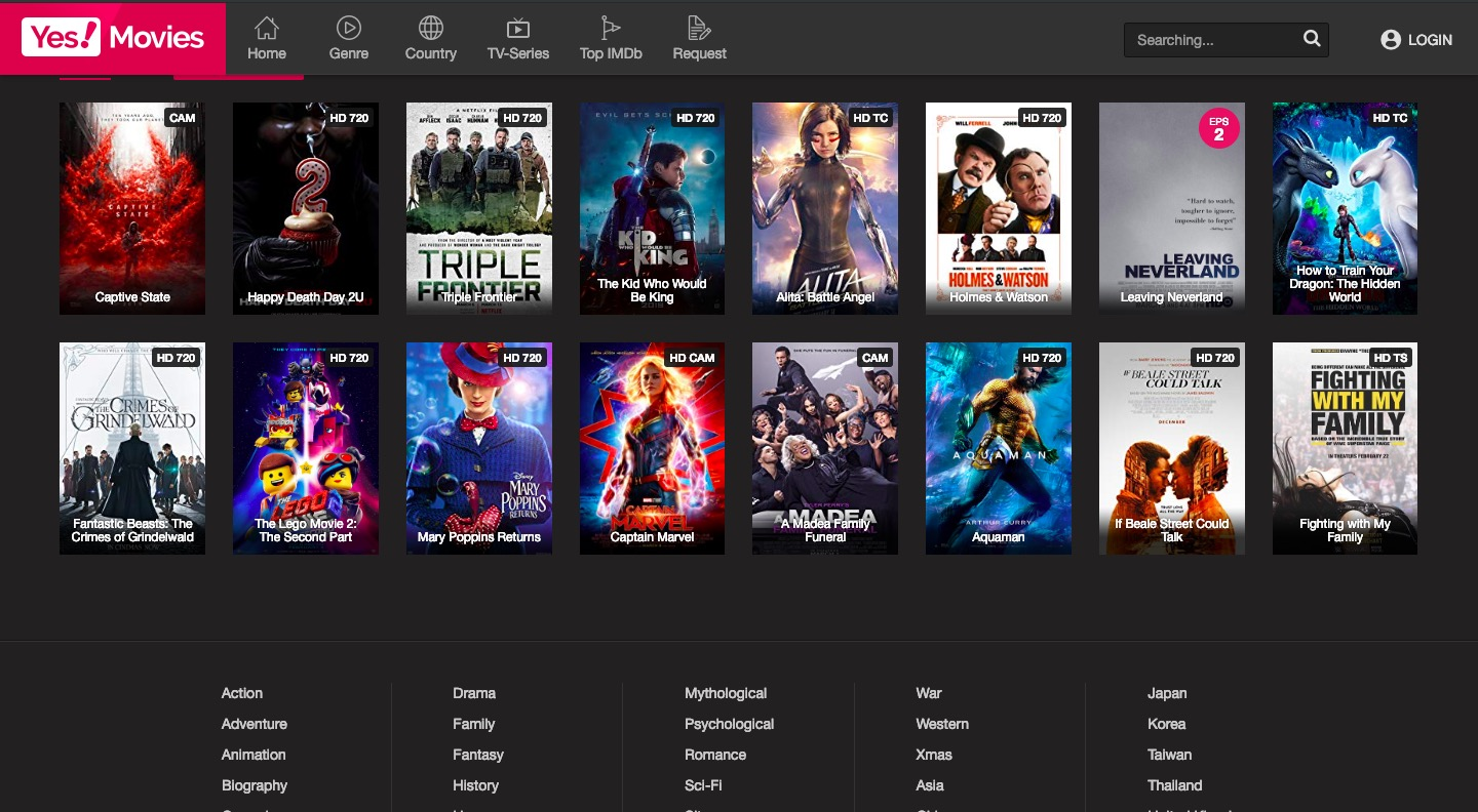 yes movies unblocked red