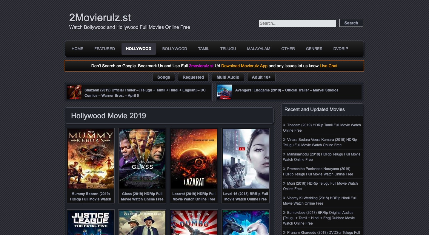 best online free movie sites 2018