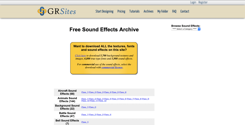 best free sound effects download