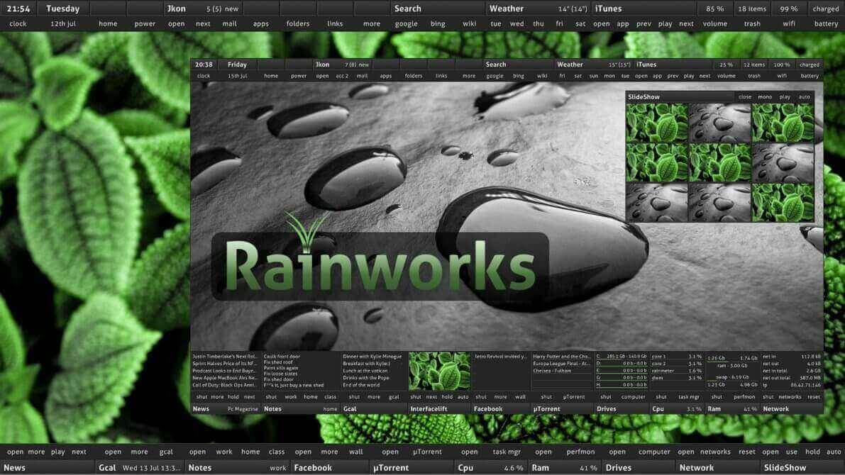 best rainmeter themes